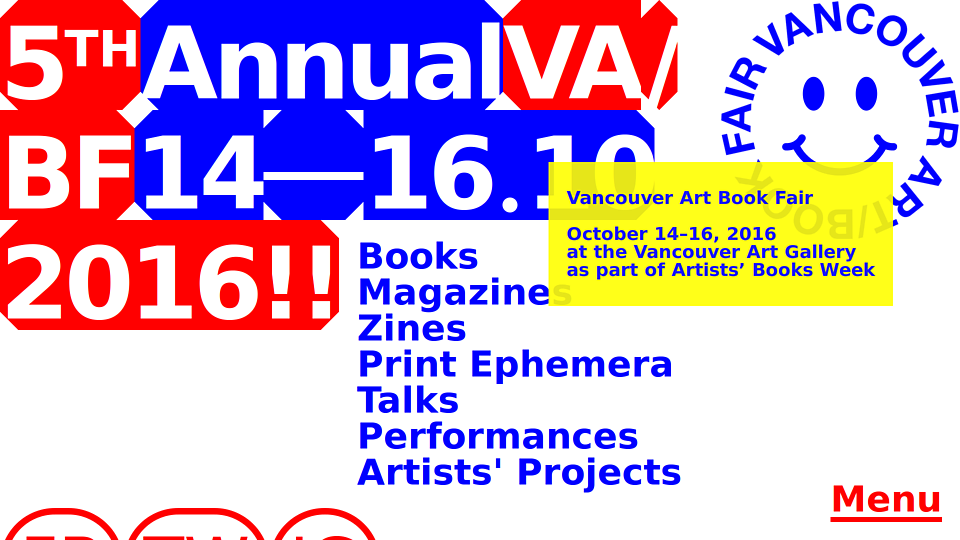 Vancouver Artbook Fair 2016